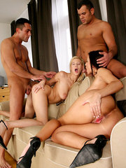 Full on group sex orgy double pentration ass to mouth cum faced action in these amazing pics