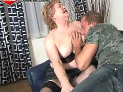 This granny loves that younger cock inside her