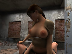 3D sex with Lara Croft