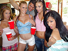 Every weekend I get together with my friends and its the same shit. They always want to get trashed and be taped. But this time, the girls never knew that they were gonna be involved in a day of debauchery and a face full of jizz!!