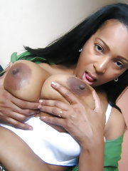 Kinky mature Camila loves showing her black tits