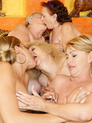 A very special kinky mature lesbian sexparty