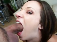 Hottie Jada Stevens gives a messy blowjob