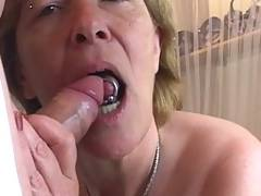 Cum producing granny at her best