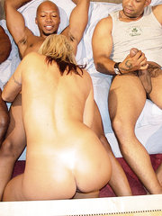 Gangbang Squad gets some MILF action!! Lynn mentioned that her and her husband like to keep their sex life interesting. 4 big cocks in all her holes should be interesting enough.