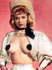 Candy Barr showing her fine big natural tits