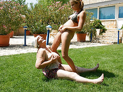 Kinky babe having fun with loads of mature lesbians