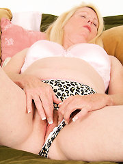 55 year old Jose spreads her legs and plays with her mature pussy