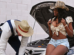 Nyomi finds herself stranded in the middle of mojave desert with no food or water she is hungered by the thought of not having any cock in sight a mad man is a pickup truck suddenly appears through the colorless mist of the deserts heat vapor in exchange