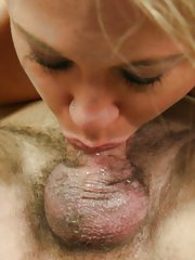 Drilled cutie gets sticky cum on her face