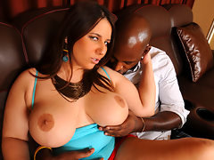 Lexxxi Lockhart shows her black friend a great time with some hardcore pussy drilling interracial action!