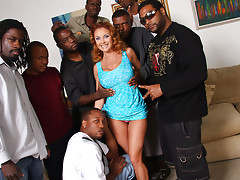 Janet Mason Gangbang @ Blacks On Blondes