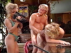 2 Horny Women Fucking Man & Filming The Sex Scene