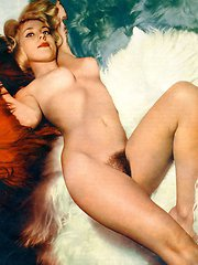 Hot and sexy vintage blonde girls posing nude