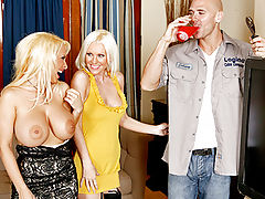 Brandi Edwards, Holly Halston Milfs Destroying the Poor Guy