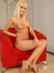 Red armchair made her more passionate than ever