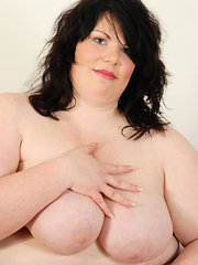 BBW Brunette Shows Her Soft and Round Side