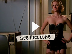 January Jones displays her seductive cleavage in black bra and panties