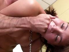 Baby faced Stefany Gold likes her pussy and face fucked hard