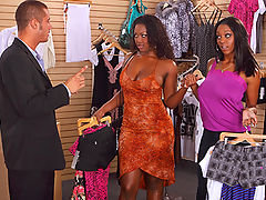 Aryanna and erika are shopping in a clothing store when danny the store clerk gives them trouble about having more than 2 items in the changing room after a little fit the girls make him beg not to make a scene and they decide to try out a few of the item
