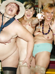 A special all women mature gangbang party