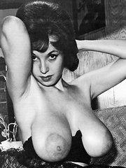Several vintage girls showing their big tits