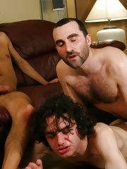 With gaydar turned up to its maximum level our two sultans of sodomy set their sites Dimitrios an Aegean candy-ass here on vacation. Watch this very Greek guest get down on some huge cock like it was wrapped in a pita