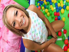 Young Kara\'s first dick sucking lesson!