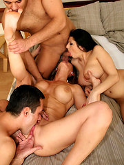 Super hot snoe bunnies share some cock after a horny snow fight in these hot sexy pussy fucking orgies