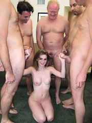 Faye Valentine fucked by 5 guys before taking all their hot cum on her sweet face