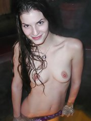 Red hot Ex Girlfriend Pam in the Hottub again!