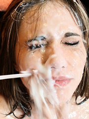 Cute Dakota enjoys sucking hard cock and gets pounded real hard