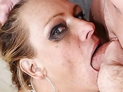 Slutty MILF Debi Diamond face fucked and throated