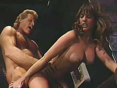 Sexy Brunettes Sucking & Getting Fucked Hardcore On Stage