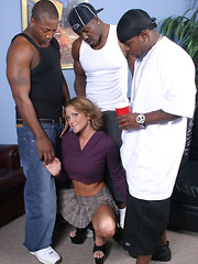 Spring Thomas interracial gangbang fuck cum facial