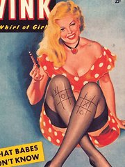 Several erotic vintage magazine cover babes